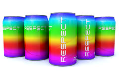 Respect cans Stock Images