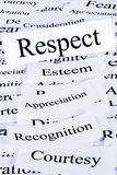 Respect Concept. A conceptual look at respect, esteem, appreciation, recognition royalty free stock photo