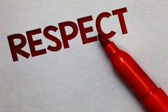 Respect d'apparence de signe des textes Sentiment conceptuel de photo d'admiration profonde pour quelqu'un ou quelque chose gris  images libres de droits