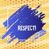 Respect d'apparence de signe des textes Sentiment conceptuel de photo d'admiration profonde pour quelqu'un ou quelque chose ton b illustration libre de droits