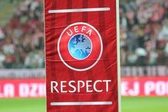 Respect de l'UEFA images libres de droits