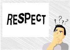 Respect des textes d'écriture de Word Concept d'affaires pour se sentir de l'admiration profonde pour quelqu'un ou quelque chose  illustration libre de droits