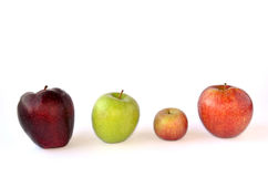 Respect differences. Four different apples - respect differences stock images