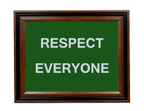 Respect Everyone sign Royalty Free Stock Photo