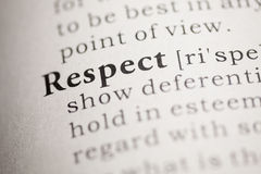 Respect. Fake Dictionary, Dictionary definition of the word Respect. including key descriptive words royalty free stock photos
