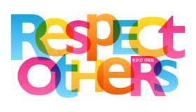 Free RESPECT OTHERS Typography Poster Stock Images - 118766054