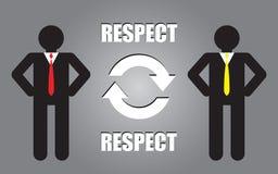 Respect people. Illustration design background Stock Photo