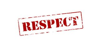 Respect. Rubber stamp with word respect inside,  illustration Royalty Free Stock Image