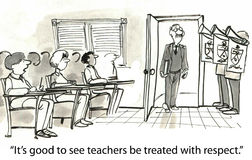 Respect. It's good to see teachers be treated with respect Royalty Free Stock Image