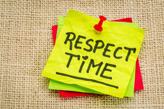 Respect time reminder note Royalty Free Stock Photos
