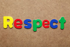 Respect. Word made of colorful magnets royalty free stock images