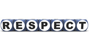 Respect. Word on white background, made up of word blocks in 3d Royalty Free Stock Images