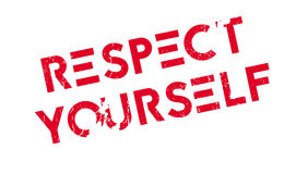 Respect Yourself rubber stamp Stock Photo