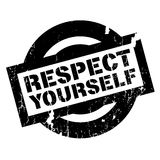 Respect Yourself rubber stamp Stock Photos