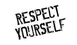 Respect Yourself rubber stamp Royalty Free Stock Image