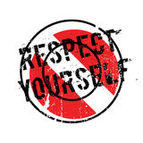 Respect Yourself rubber stamp Royalty Free Stock Images