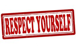 Respect yourself. Stamp with text respect yourself inside,  illustration Royalty Free Stock Photography
