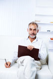 A respectable businessman in the office Royalty Free Stock Images