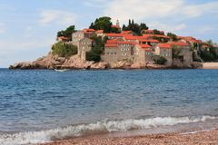 Respectable resort island of Sveti Stefan Royalty Free Stock Photo