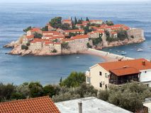 Respectable Resort Island Of Sveti Stefan Royalty Free Stock Photography