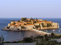 Respectable Resort Island Of Sveti Stefan Royalty Free Stock Images