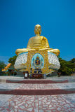 Respected Golden Buddha in Thailand Stock Image