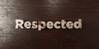 Respected - grungy wooden headline on Maple  - 3D rendered royalty free stock image Stock Photos