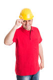 Respectful builder Royalty Free Stock Photo