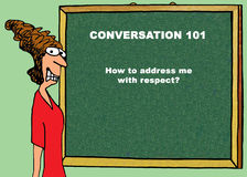Respectful Communication. Color business or education illustration about respectful communication Stock Photography
