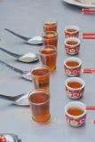 Respecto del té por el Año Nuevo chino Imágenes de archivo libres de regalías