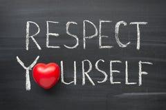 Respecto usted mismo Imagen de archivo libre de regalías