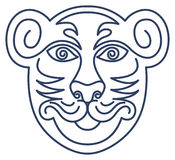 Respekt-Tiger-Schablone Stockfotografie