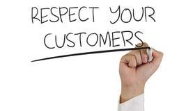Respete a sus clientes Foto de archivo