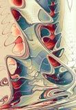 Respingo abstrato da pintura do Fractal ilustração stock