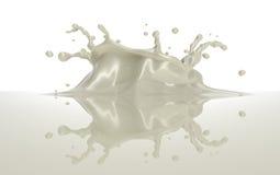 Respingo branco do chocolate ou do leite com uma coroa ilustração stock
