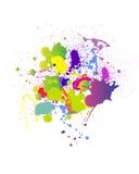 Respingo colorido Ilustração Stock