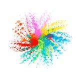 Respingo colorido da aquarela Mancha brilhante multicolorido da aquarela W ilustração stock