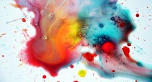 Respingo colorido da aquarela no fundo branco Imagem de Stock Royalty Free