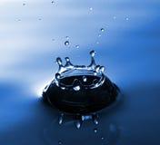 Respingo da água azul Foto de Stock Royalty Free
