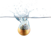 Respingo da água de Apple Foto de Stock