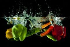 Respingo da água de vegetais Fotografia de Stock Royalty Free