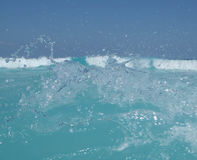 Respingo da água do mar do oceano Fotos de Stock