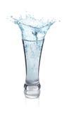 Respingo da água em um vidro Imagem de Stock Royalty Free