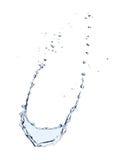 Respingo da água isolado Fotografia de Stock