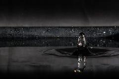 Respingo da água isolado no fundo preto Foto de Stock Royalty Free