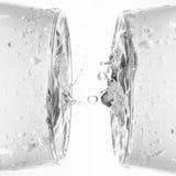 Respingo da água nos vidros Foto de Stock