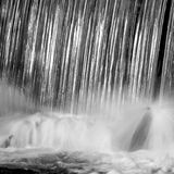 Respingo da cachoeira Fotos de Stock Royalty Free