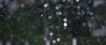 Respingo da chuva de Bokeh no movimento Fotos de Stock