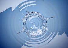 Respingo da coroa da água em uma associação de água no branco Vista superior ilustração do vetor