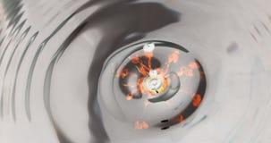 Respingo da gota de água do fogo Fotografia de Stock